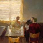 Silent Conversation, oil, 48 x 36.