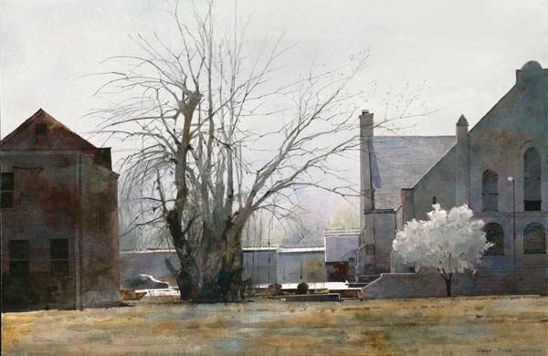 Early Spring in St. Louis, watercolor, 20 x 30.