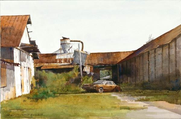 Erosion, watercolor, 10 x 15.