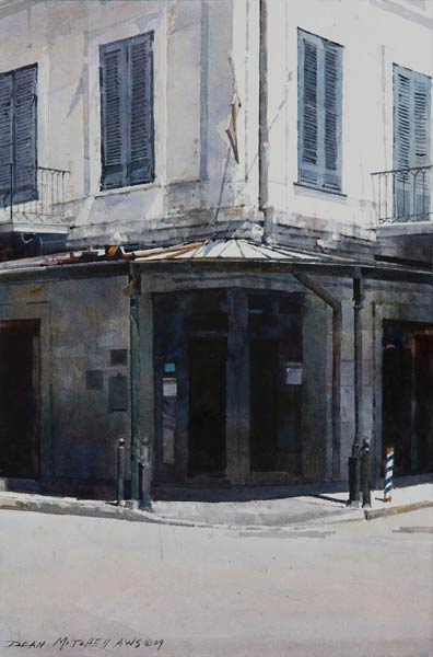 Napoleon House, watercolor, 15 x 10.