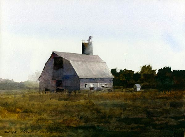 Shawnee Barn, watercolor, 8 x 10.