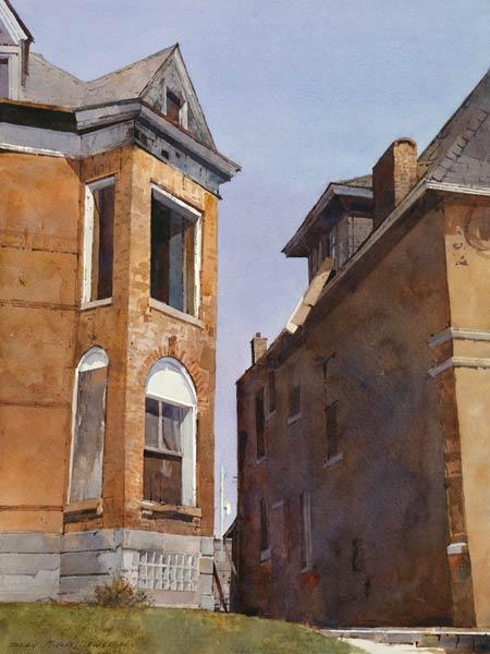 Urban Mass, watercolor, 20 x 15.