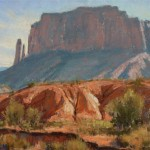 Monument Valley, pastel.