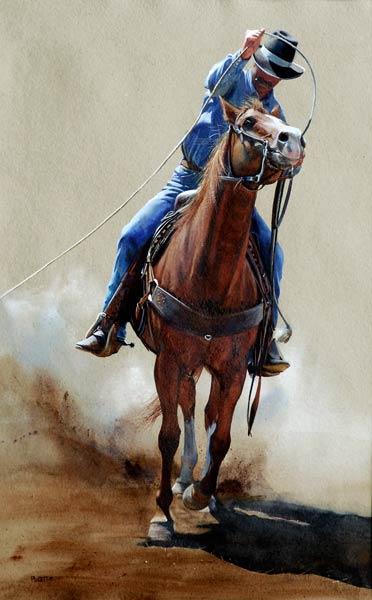 Savvy, watercolor, 23 x 14.