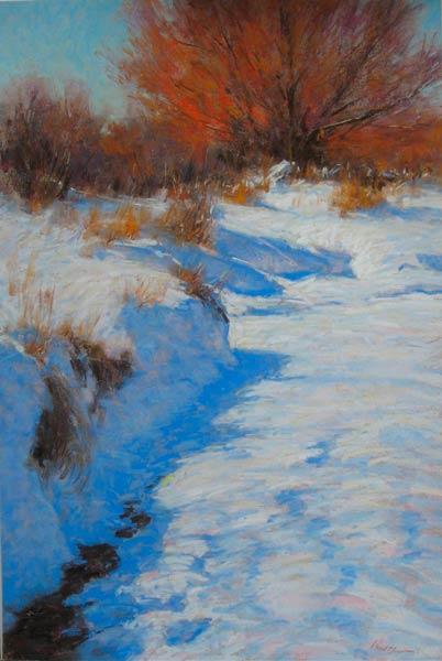Winter Willow, pastel, 24 x 16.