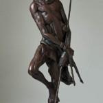 Sentinel, bronze, 9 x 6 x 19.