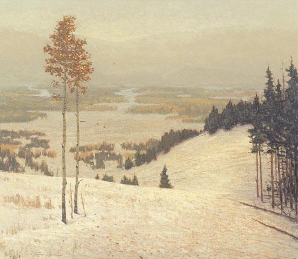 First Snow, oil, 36 x 42.