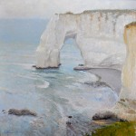 Cliffs at Etretat, oil.