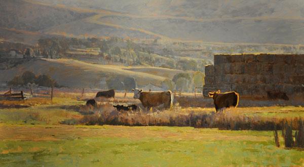 Morning Light, oil, 40 x 72.