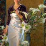 Lalique, oil, 60 x 36.