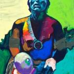 Euphoric Pueblo Dancer, acrylic, 30 x 24.