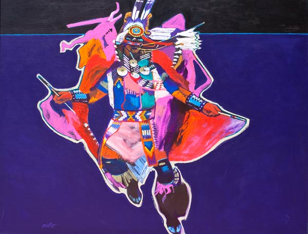 Fancy Dancer, acrylic, 36 x 48.
