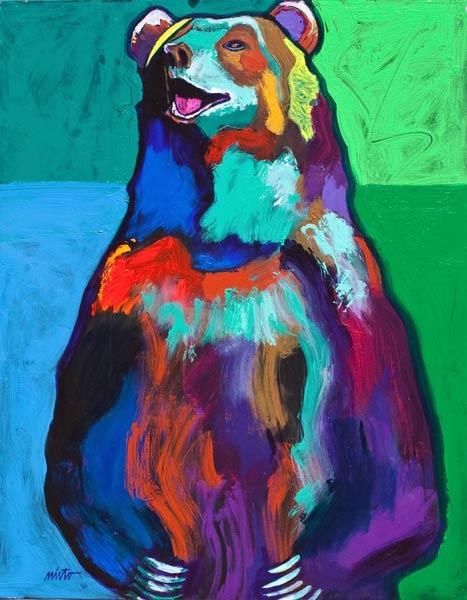 Grizzly Bear, acrylic, 30 x 24.