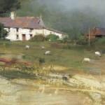 Portmagee Farm, oil, 8 x 16.