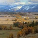 Miles of Teton Valley, oil, 36 x 36.