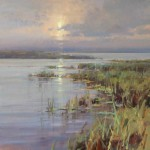 On the Marsh, oil, 24 x 24.