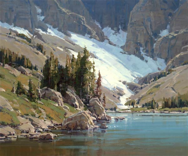 Temple Lake, oil, 40 x 48.