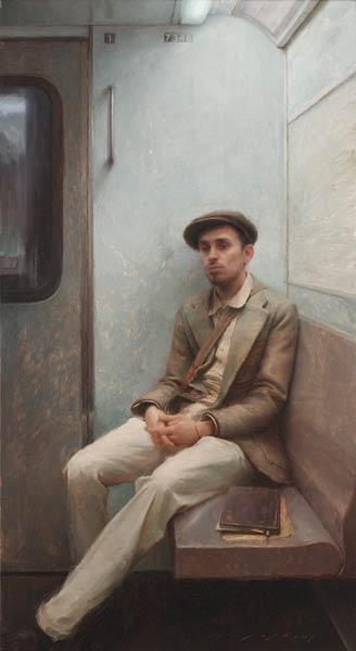 The Artist, oil, 40 x 22.