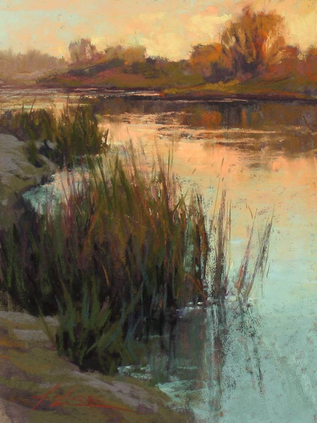 Tranquil Waters, pastel, 12 x 9.