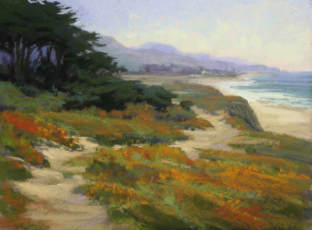 Dunes Beach Vista, pastel, 11 x 14.