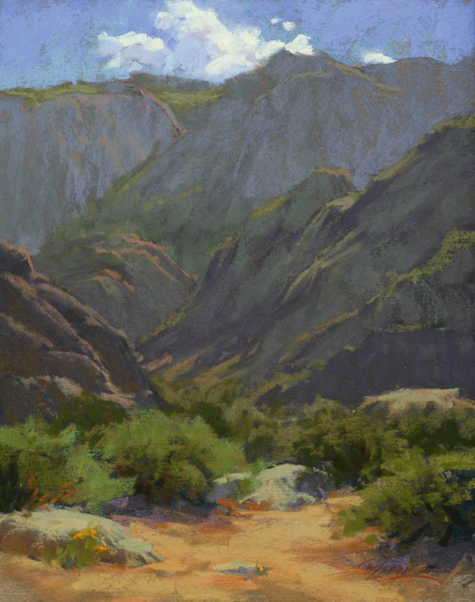 Sandia Patterns, pastel, 14 x 11.