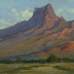 Picacho Peak Morning, pastel, 12 x 16.