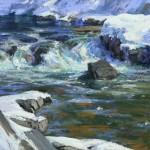 American River Run Off, pastel, 11 x 14.