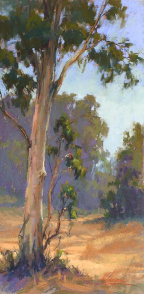 Dance of the Eucalyptus, pastel, 16 x 8.