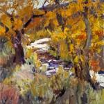 Walt Gonske, Jemez Gold, oil, 8 x 10.