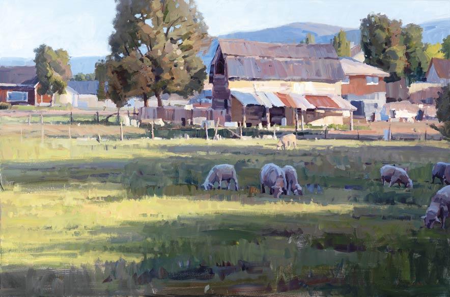Green Acres, acrylic, 24 x 36.