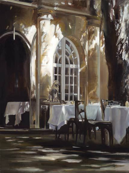 Lunch in Provence, oil, 24 x 18.