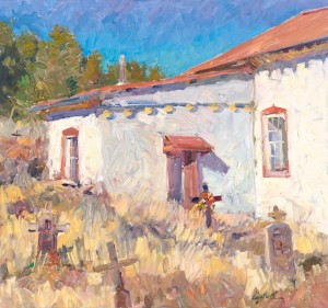 Walt Gonske, The Graveyard at Apache Canyon, oil, 28 x 30.