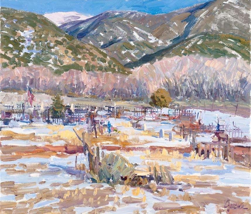 Walt Gonske, The Santo Niño Cemetary, oil, 8 x 10.