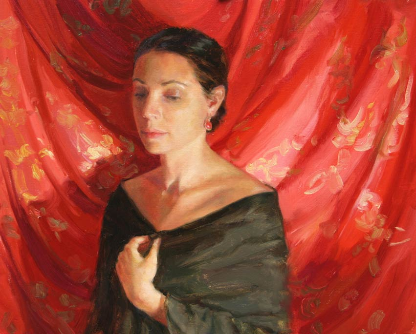 Angelica, oil, 16 x 24, by Melissa Gann