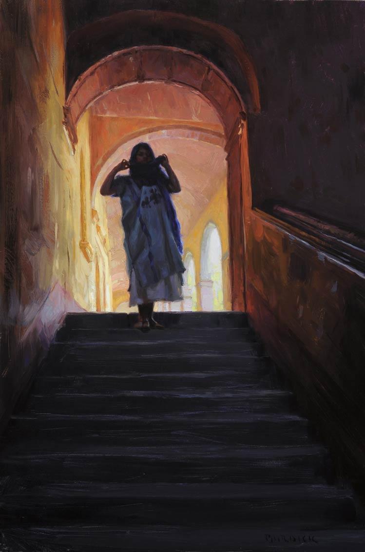 Bellas Artes, oil, 30 x 20, by Scott Burdick