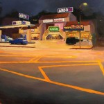 Hollywood Arco, oil, 30 x 40.