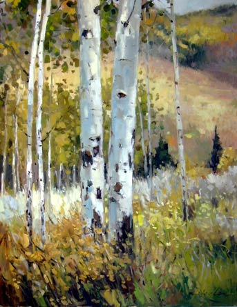 Acorn Creek Aspens by Kate Kiesler