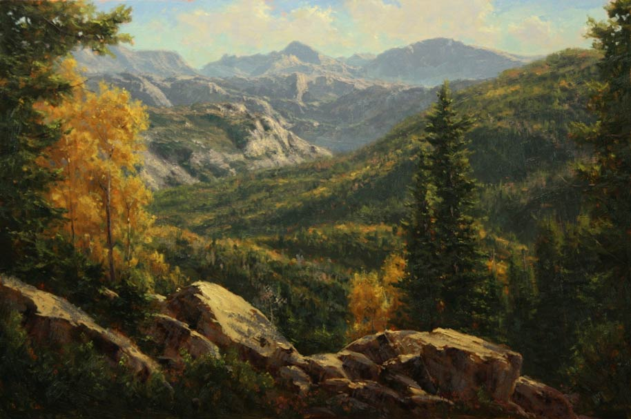 Wind River Range, oil, 24 x 36.