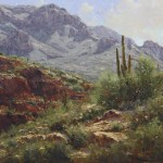 Off the Apache Trail, oil, 18 x 30.