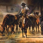 The Horse Wrangler, oil, 24 x 30.