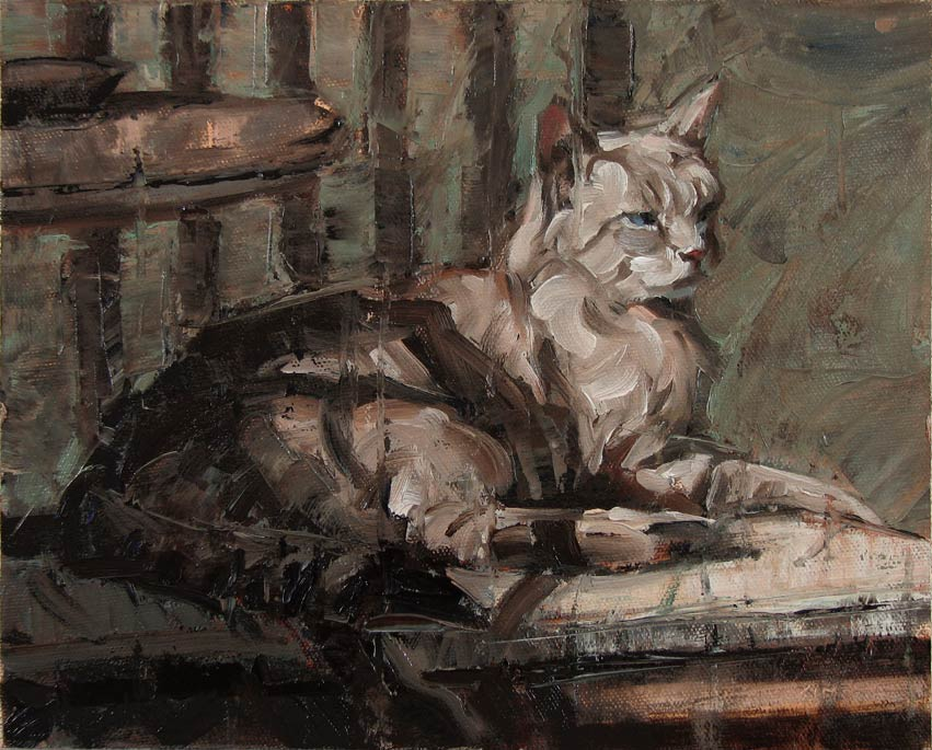 The Warm Spot, oil, 8 x 10, by Dan Oakleaf