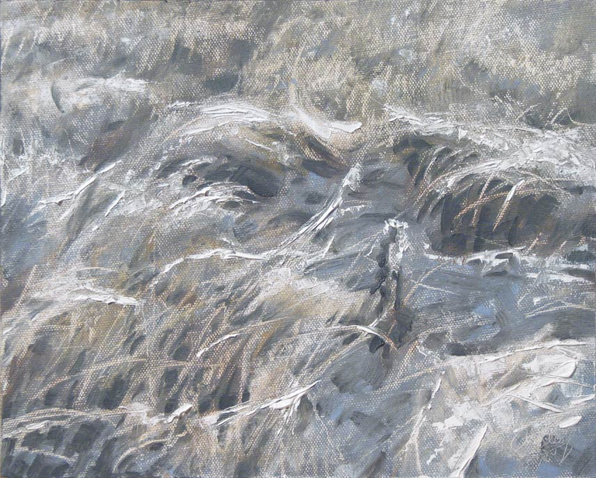 Winter Grasses, oil, 8 x 10, by Dan Oakleaf