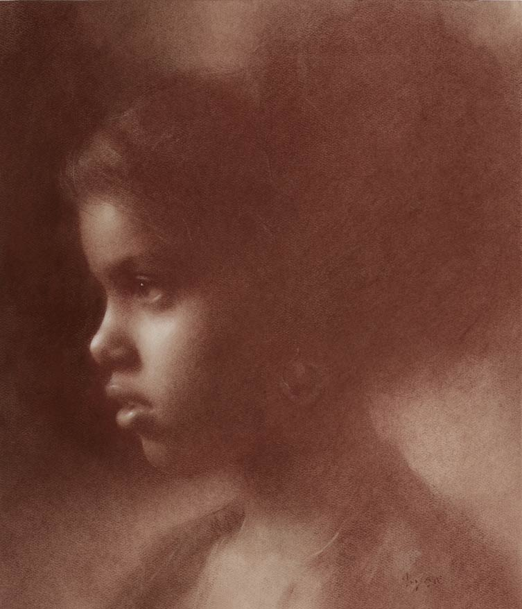 Yanca, pastel and pencil, 16 x 14, by Susan Lyon