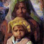 Yellow Hat, oil, 24 x 18, by Susan Lyon