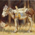 Barbara Hill, Guadalupe, oil, 9 x 12.