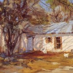 Barbara Hill, Old Arizona Homestead, oil, 16 x 20.