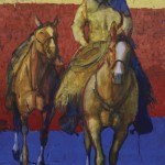 Duke Beardsley, Caballos Refrescos, oil, 60 x 42.