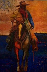 Duke Beardsley, I Speak to You Now With the Land's Voice, oil, 7 2 x 48.