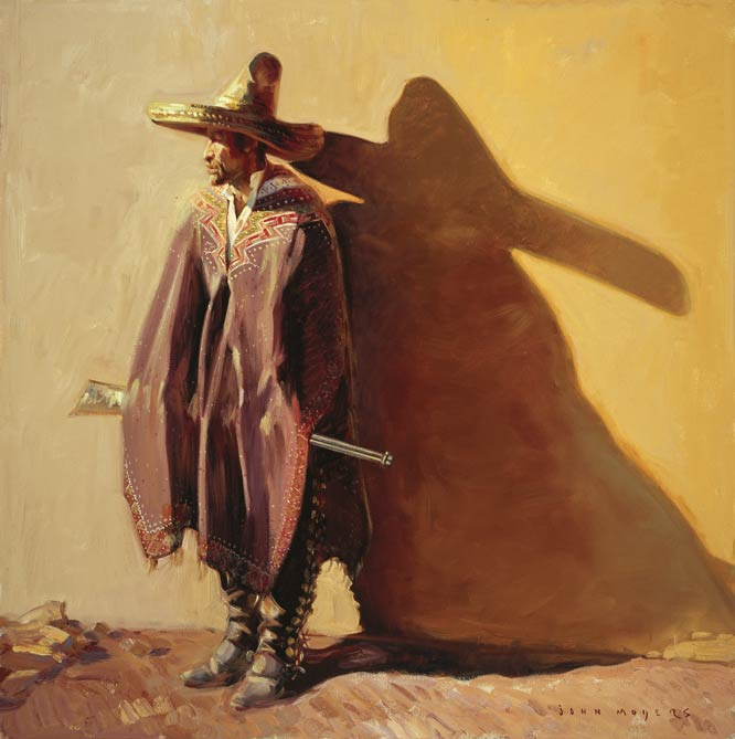 John Moyers, The Revolution's Shadow, oil, 40 x 40.