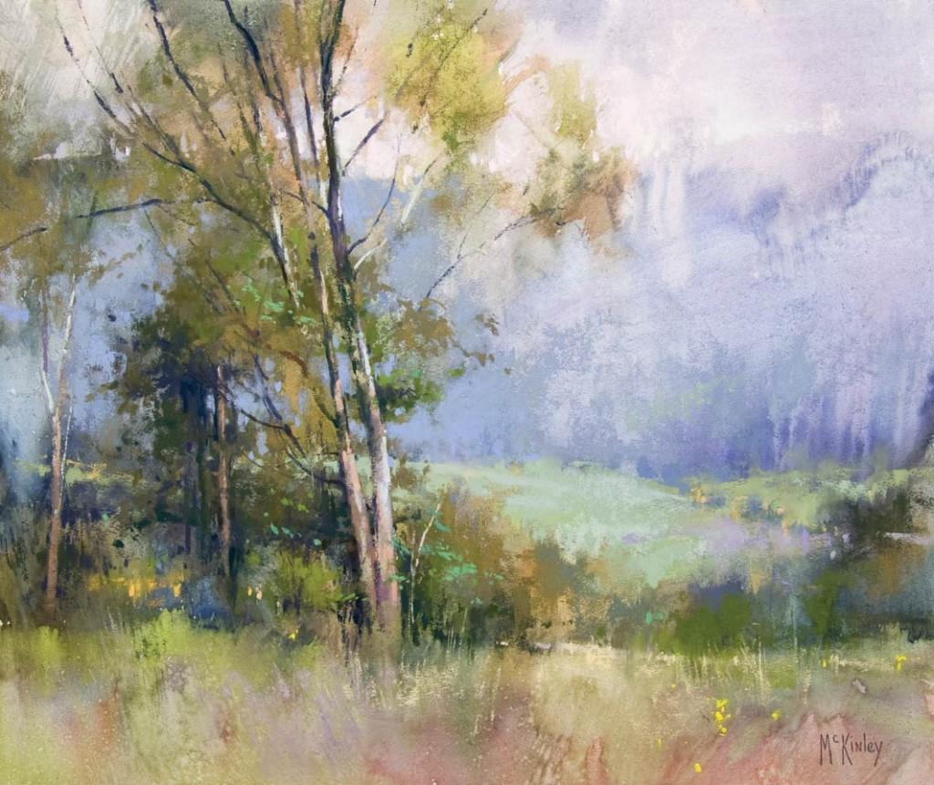 A Gentle Rain, pastel, 15 x 18.